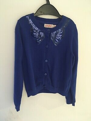 Cath Kids Age 3-4 Years Blue Sequin Bow Cardigan