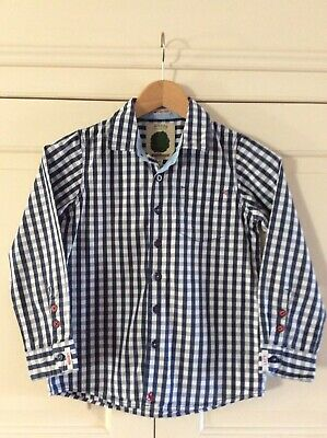 Joules Boys Shirt Age 8 Years Blue/white Check