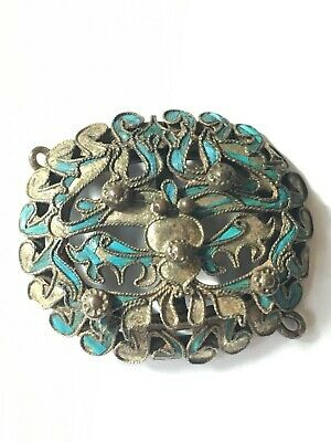 Antique Chinese Kingfisher Feathers Oriental Ornament