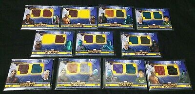 Lot of 11 Guardians of the Galaxy Cosmic Strings Dual costume memorabilia cards