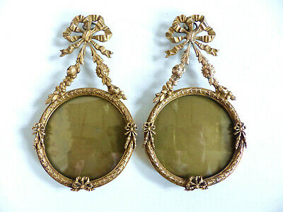 SUPERB PAIR OF ANTIQUE FRENCH 19th CENTURY BRONZE PICTURE PHOTO FRAMES 1890's .