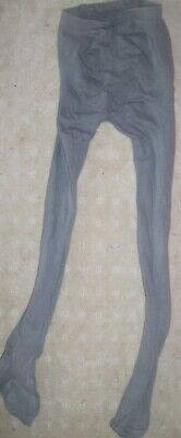GIRL'S  Sz 10-12 GREY LEGGINGS WITH FEET.   EUC +  postage discount offer.