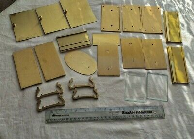 Job Lot Of Clock Body Parts, Brass Sides, Tops, Doors, Etc.