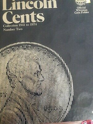 2 Coin Folders- Lincoln Cents 1941 - 1975 Penny Sets Whitman Album 9033 pennies
