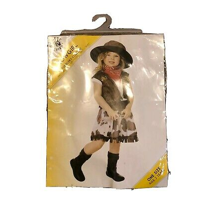 Cowgirl Toddler Costume Girls Fancy Dress 2-3 Years Kids Childrens