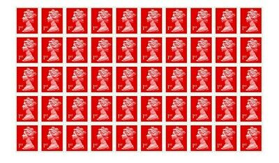 50 x 1st Class Royal Mail Postage Stamps Booklet Discounted DEAL Genuine