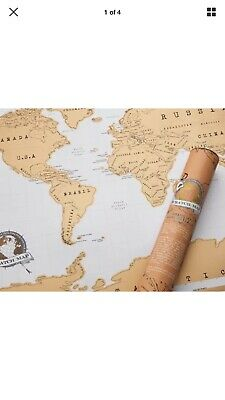 Large Size Scratch Off World Map Poster Personalized Travel Vacation Log Gifts