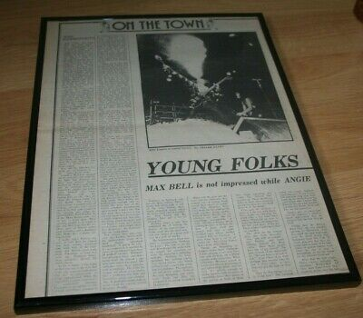 KISS HAMMERSMITH REVIEW original framed press 1976 Paul Stanley