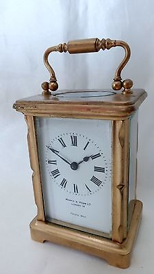 A Fine Looking Mappin And Webb Ltd , Brass Carriage Clock With French Movement.