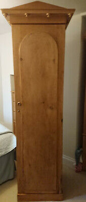 Genuine Single Victorian Antique Pine Wardrobe/Cupboard