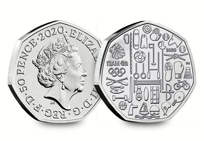 2020: UK Team GB Tokyo Olympic CERTIFIED BU 50p coin