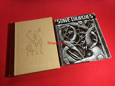2 Libro Book STAVE CHURCHES in Norway + Native Art of Norway Dragon Myth Church
