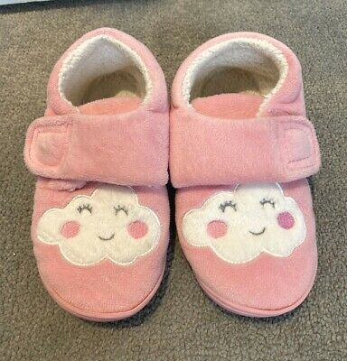 Next Pink Cloud Girls Soft Slippers Shoes Infant Kids Children Size 11