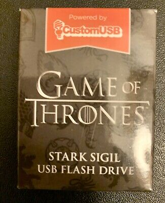 New Sealed Game Of Thrones HBO House Stark Sigil 4gb USB Flash Drive Loot Crate