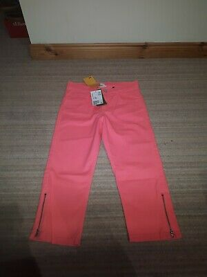 H&M Shocking Pink Crop Trousers Age 12-13yrs