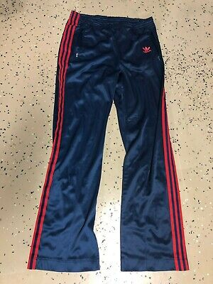 Vintage 1970s Adidas Trefoil 3 Stripes Track Workout Warmup Pants Size M