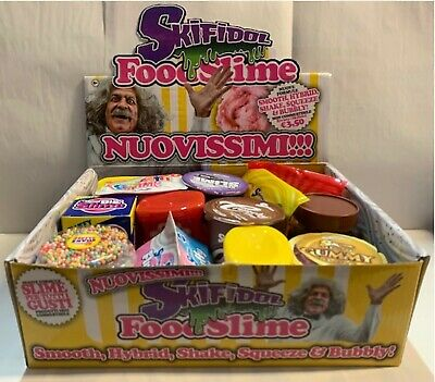 12 Skifidol FOOD SLIME collezione completa SMOOTH HYBRID SHAKE SQUEEZE BUBBLY^⬛