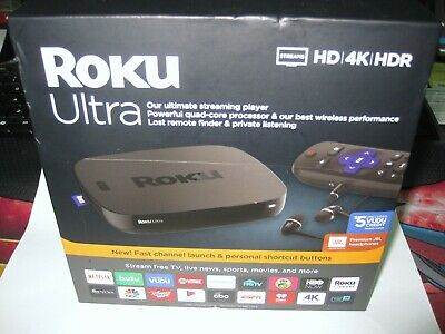 NEW SEALED Roku Ultra Streaming Media Player 4K/HD/HDR 4670RW w/ JBL Headphones