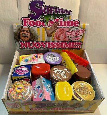 """12 Skifidol FOOD SLIME collezione completa SMOOTH HYBRID SHAKE SQUEEZE BUBBLY""""🔵"""