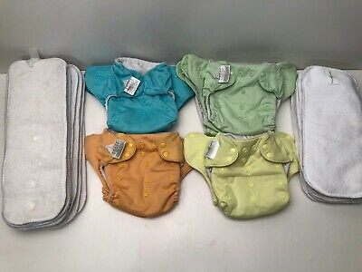 BumGenius Baby Cloth lot - 10 Diaper Covers w/ Inserts and Doublers Snaps