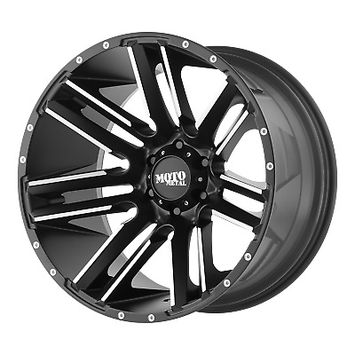 "Moto Metal RAZOR Satin Black Machined 18x10"" Rims Chevy GM Toyota 6X5.5-24 Each"