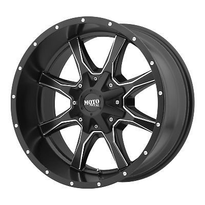 "Moto Metal MO970 Satin Black Milled 20x9"" Rims Dodge RAM HD GM 8X6.5+0 offset EA"