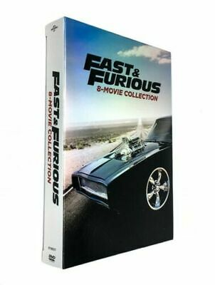 Fast and Furious: 8-Movie Collection (DVD, 2017, Box Set) NEW Sealed