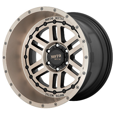 "Moto Metal DEEP SIX Satin Black With Bronze 20x10""Ford F150 Rims 6x135 -18 Each"