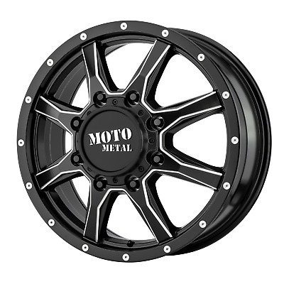 "Moto Metal MO995 Satin Black Milled-Front 20x8.25"" Rims 8x200 +127 offset, Each"