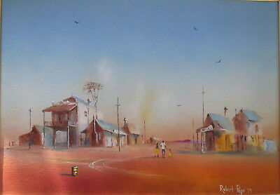 Robert David Pope Oil on canvas 24 x 34cm The Country Town