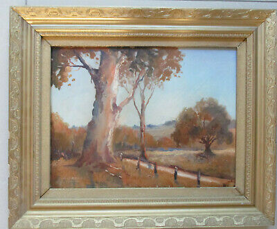 Nice Oil on board Painting by George William Bray 43cm x 33 Australian Landscape