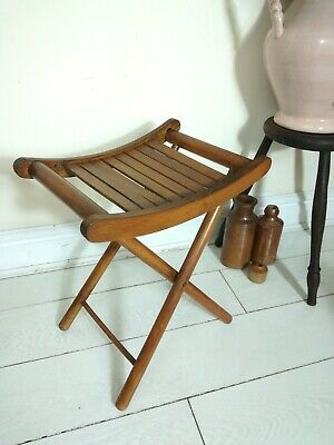 Vintage antique folding Bent Wood fishing stool - seat - chair - teddy - doll