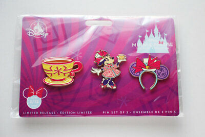 Disney Store Minnie Mouse main attraction March Mad Tea Party pin set