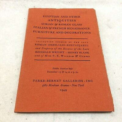 Egyptian and Other Antiquities 1949 Parke-Bernet Auction Catalog NYC Roman Glass