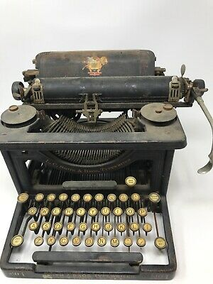 L.C. Smith & Bros. Typewriter No.1 Authentic Original Antique Early 1900s