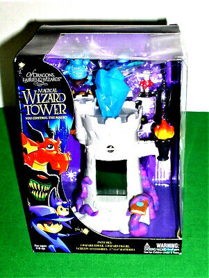 Magical Gray Wizard Tower of Dragons Fairies & Wizards NEW Factory Sealed