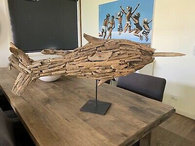Coco Republic Large Driftwood Swordfish on stand - RRP $575.00