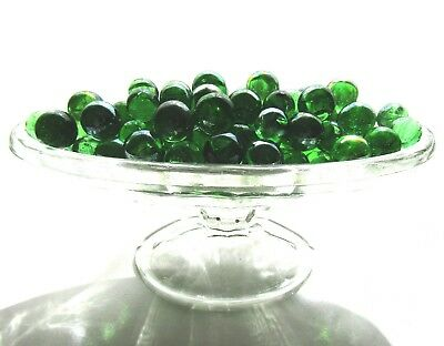 100 x Emerald Green Mosaic Lead Light Art Glass Spheres Balls Orbs Round Marbles