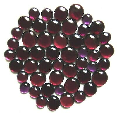 50 x Shades of Mystical Purple Mosaic Art Glass Pebbles Stones - Assorted Sizes