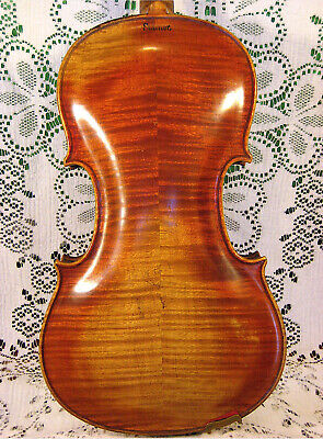 Gorgeous Old Violin c.1890 Branded Twice & Labeled Stainer E.J Albert Tailpiece!