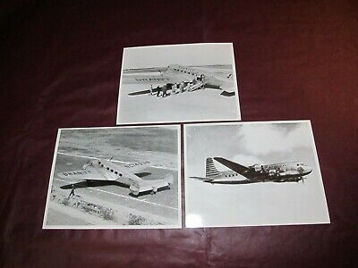 3 early 8x10 photographs - BRANIFF INTERNATIONAL AIRWAYS AIRLINES