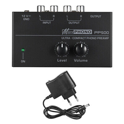 Portable PP500 Home Ultra Compact Phono Preamp Audio Preamplifier Turntable