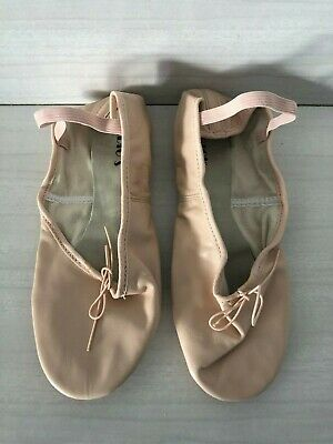 BALLET DANCE SHOES Ballet Pink Leather with Split Sole - Medium Width Only $9.00