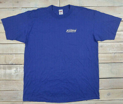ALASKAN Brewing Company Winter Ale Graphic Short Sleeve Blue T-Shirt Size 2X