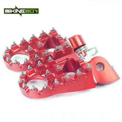Wide Foot pegs Pedal Footrest For Beta RR 250 300 350 390 430 480 11-19 CNC MX