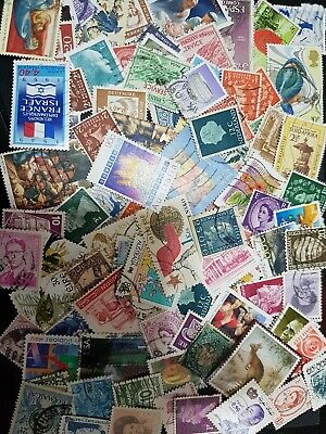 300 unsorted World Stamps off paper Kiloware From  Old Collections