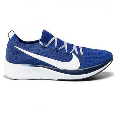 NIKE ZOOM FLY Flyknit Deep Royal White Blue Void Size UK