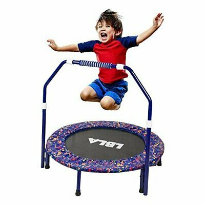 36-Inch Kids Trampoline Little Trampoline with Adjustable Handrail and Safety