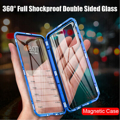 For Huawei P40 Pro Lite Magnetic Double-Sided Tempered Glass Phone Case Cover