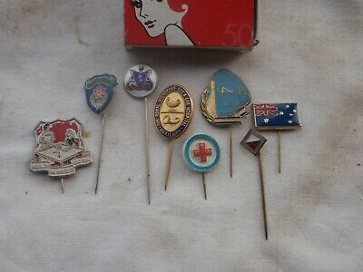 stick pin badges, 8 different